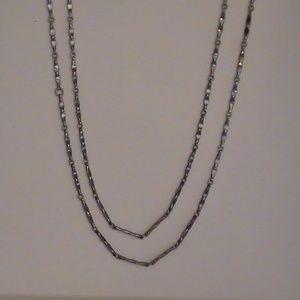 """Vintage Metal Linked Necklace 50"""""""